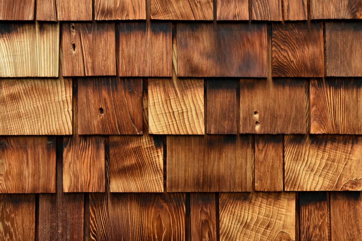 Wooden Cedar Shakes Abstract