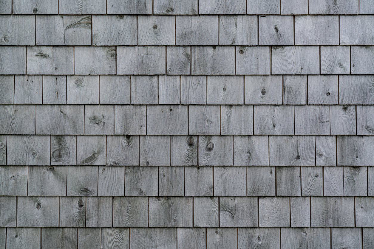 Weathered Gray Cedar Shingle Wall